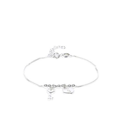 Carlton London 925 Sterling Silver Charm Bracelet