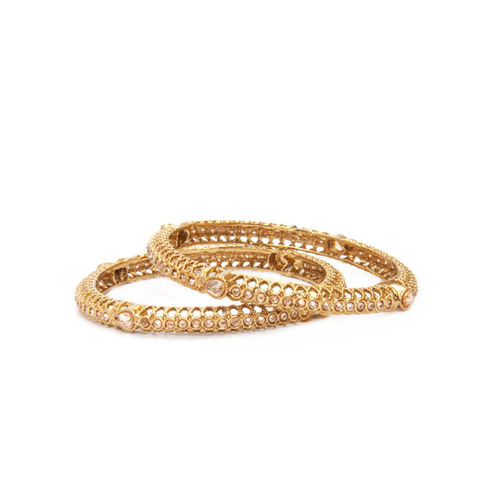 Rubans Gold-Plated Handcrafted Set of 2 Bangles