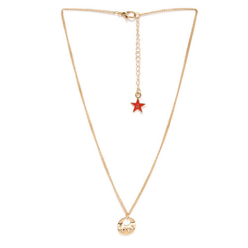 Ayesha Women Gold-Toned Endless Love Pendent With Sterling Gold Chain