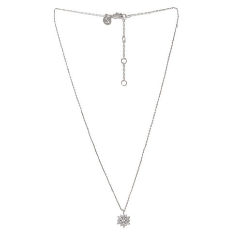 Accessorize Silver-Toned Metal Pendant with Chain