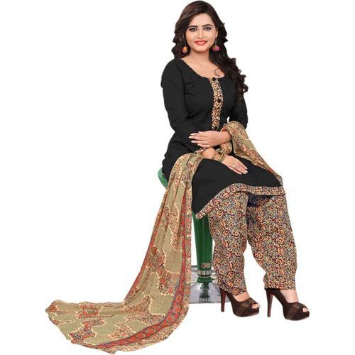 Saara Polycotton Solid, Printed Salwar Suit (Unstitched)
