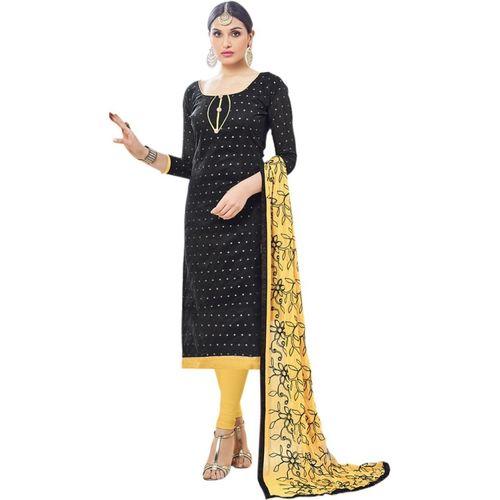 Saara Poly Silk Printed Salwar Suit Material(Unstitched)