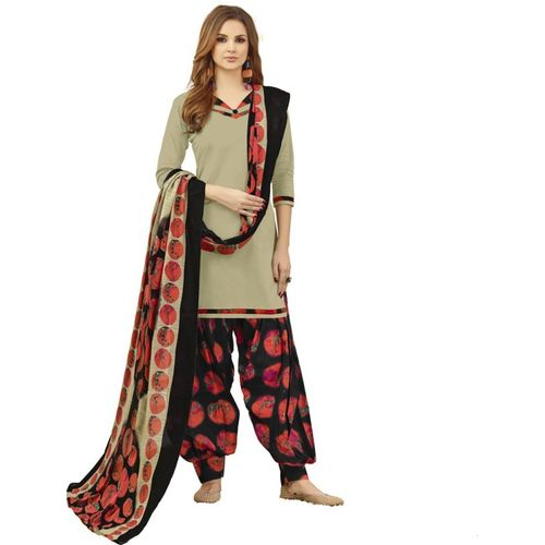 Saara Cotton Blend Solid, Geometric Print, Printed Salwar Suit Material(Unstitched)
