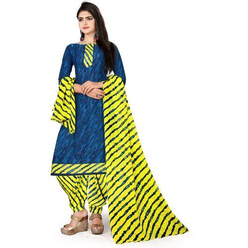 Saara Crepe Striped, Printed Salwar Suit Dupatta Material(Unstitched)