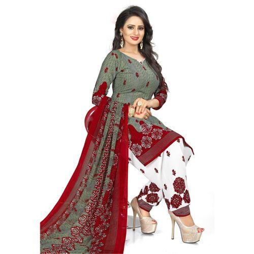Saara Poly Crepe Floral Print, Printed Salwar Suit Material(Unstitched)