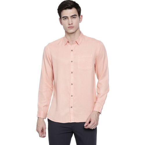 Breakbounce Men Solid Casual Pink Shirt