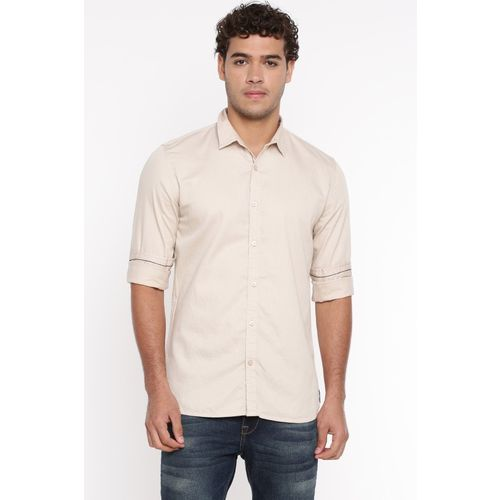 Breakbounce Men Solid Casual White Shirt