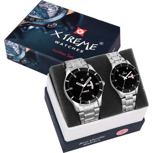 Xtreme XM-507-BKC Black Dial Day & Date Functioning Couple Analog Watch - For Men & Women