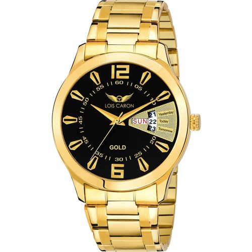 Lois Caron LCS-8403 ORIGINAL GOLD PLATED DAY & DATE FUNCTIONING Analog Watch - For Men