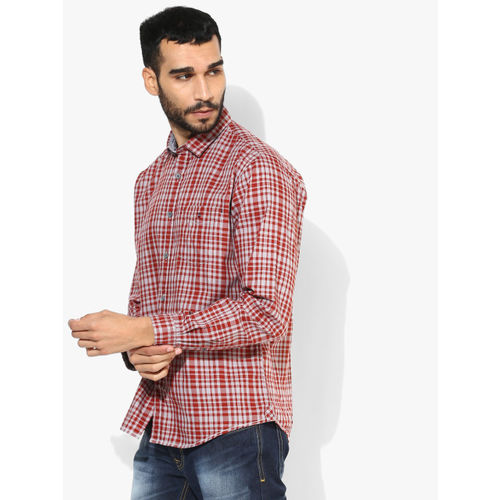 Louis Philippe Sport Grey Solid Slim Fit Casual Shirt