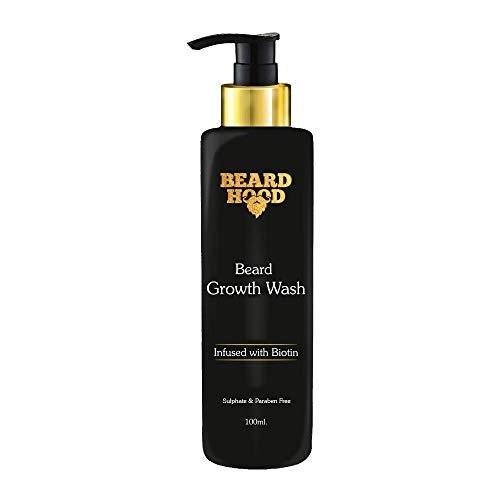 Beardhood Beard Growth Wash Biotin And Aprikot Kernel Oil, 100ml
