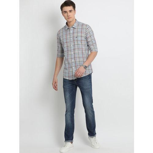 Crocodile Men Multicoloured Slim Fit Checked Casual Shirt