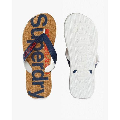 SUPERDRY Cork Colour Pop Printed Thong-Strap Flip-Flops