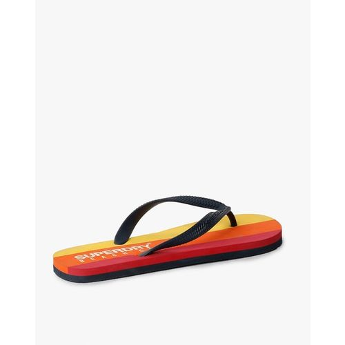 SUPERDRY Sleek Striped Thong-Strap Flip-Flops