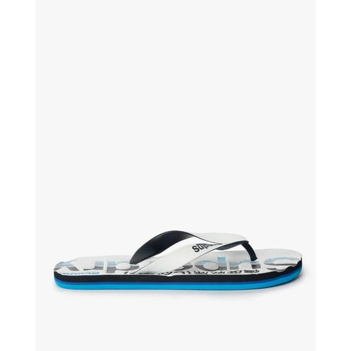 SUPERDRY Tricolour Typographic Thong-Strap Flip-Flops