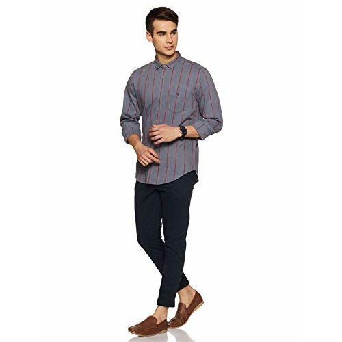 Louis Philippe Sport Men's Geometric Print Slim fit Casual Shirt