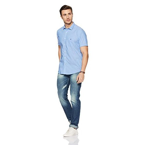 Louis Philippe Sport LP Louis Philippe Men's Solid Slim Fit Casual Shirt