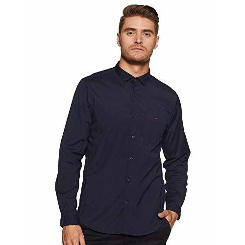 Louis Philippe Sport Men's Solid Slim Fit Casual Shirt