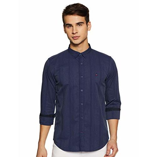 Louis Philippe Sport Men's Striped Slim fit Casual Shirt