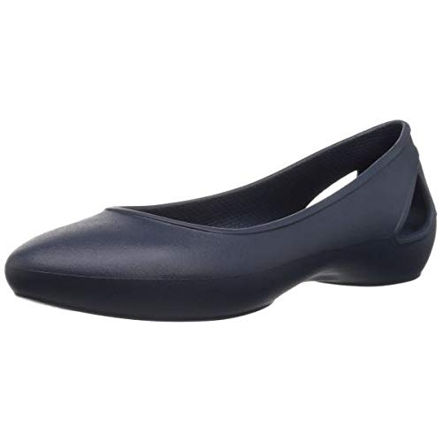 crocs Navy Synthetic Slip On Casual Ballet Flats