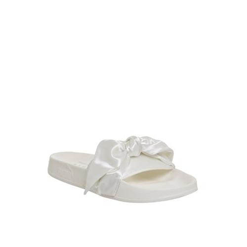 Puma Marshmallow Silver Casual Bow Slide Flip Flops