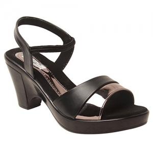 Feel it Black Leatherette TPC casual High Heels Wedge