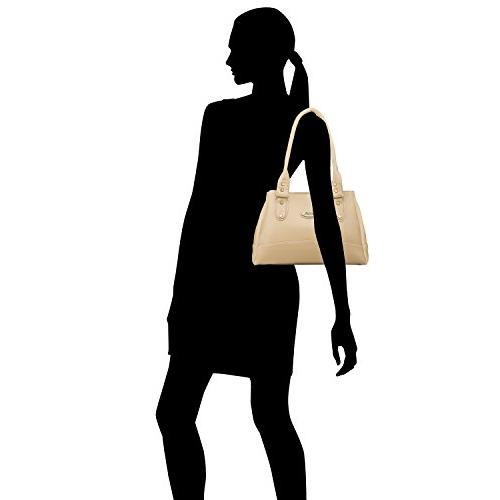 Fostelo Beige Synthetic Solid Handbag