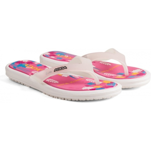 Adda Pink Rubber Slip-on Flat Slippers