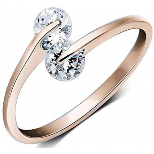 MYKI Trendy Elegant Adjustable Stainless Steel  Rose Gold Plated Ring