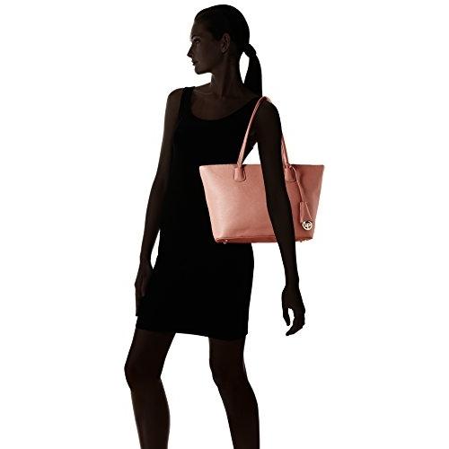 Lino Perros Pink Polyurethane Solid Handbag