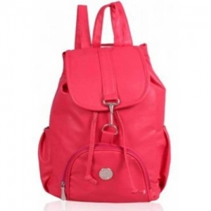 SIVANS Pink PU Leather 6 L Backpack