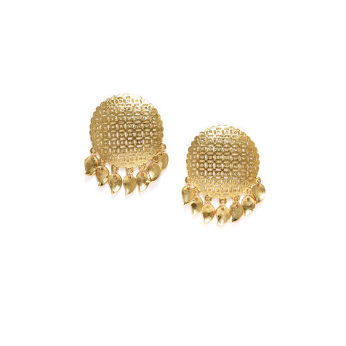 Zaveri Pearls Women Gold-Toned Circular Studs