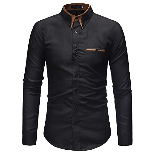 IndoPrimo Black Cotton Full Sleeves Fancy Shirt