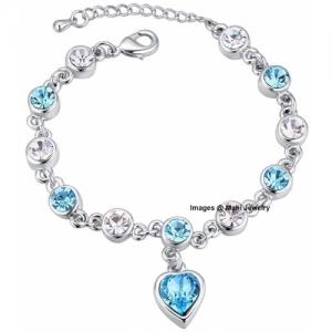 Oviya Alloy, Brass Crystal Rhodium Bracelet