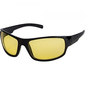 Trendmi Yellow Unisex Day and Night HD Vision Anti-Glare UV Protected Sunglass for Driving