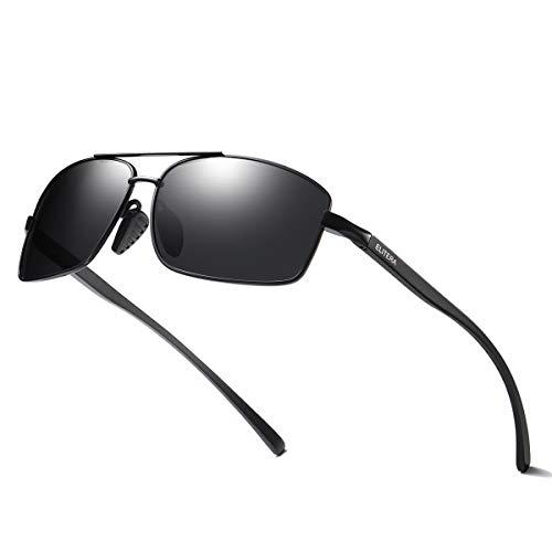 ELITERA Square Polarized Sunglasses Aluminum Magnesium Lightweight Frame