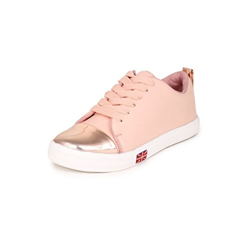 KRAFTER Pink Synthetic Canvas Casual Shoes