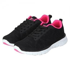 Red Tape Black Mesh Running Shoes