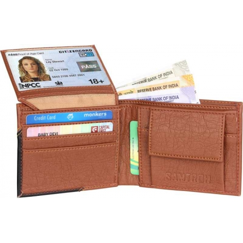 Samtroh Brown Artificial Leather Wallet