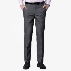 Black Coffee Black Regular Fit Formal Trousers