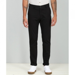 Peter England Black Cotton Slim Fit Trousers