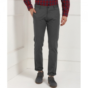 Numero Uno Grey Regular Fit Trousers