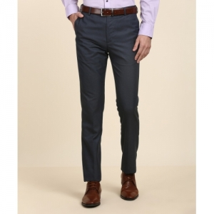 Arrow Dark Blue Slim Fit Formal Trousers