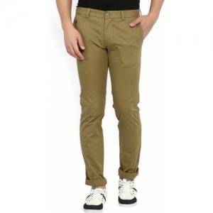 Indian Terrain Brown Slim Fit Trousers