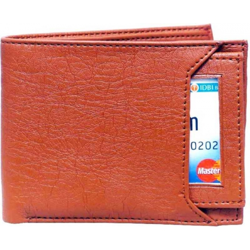 Ibex Tan Artificial Leather Casual Solid Wallet