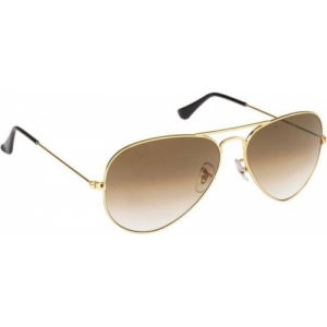 Ray-Ban Brown Metal Stylist UV Protection Round Sunglasses
