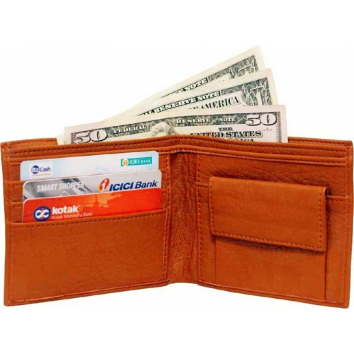 Just Leather Brown Artificial Leather Men's Wallet