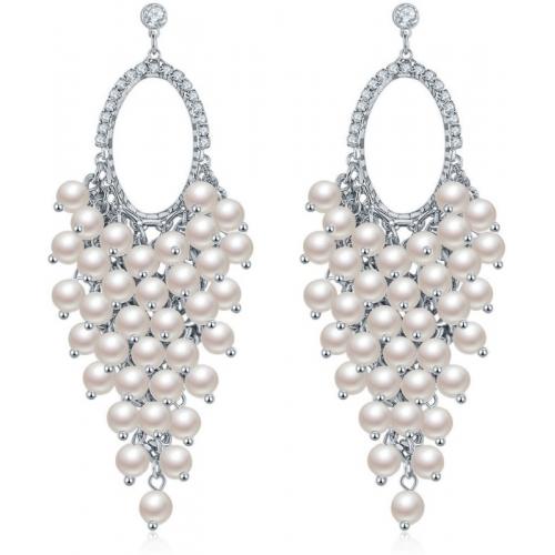 Jewels Galaxy Luxuria Pearl Copper Drops & Danglers