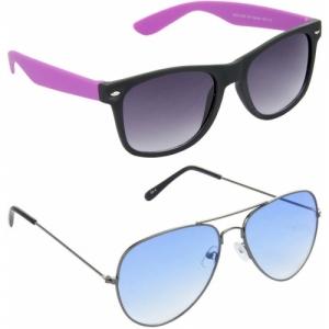 Hrinkar Grey Plasttic Wayfarer Biking Sunglasses