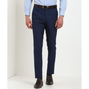 Arrow New York Blue Tapered Trousers